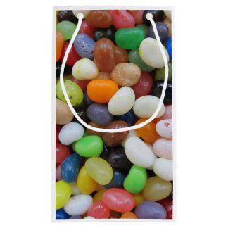 Modèle de texture de sucrerie de vert bleu de noir petit sac cadeau