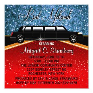 Modèle d'invitation de star de cinéma de limousine carton d'invitation  13,33 cm