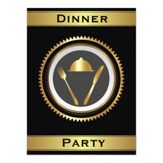 Modèle formel d'invitation de dîner carton d'invitation  16,51 cm x 22,22 cm