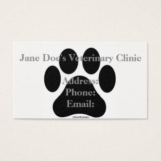 Modèle noir et blanc de carte de visite