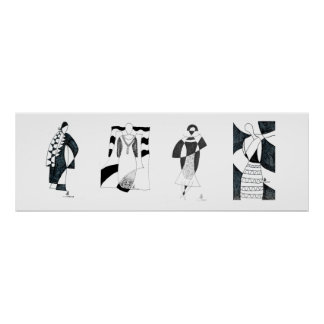 Modèle noir et blanc inspiré par l'affiche de