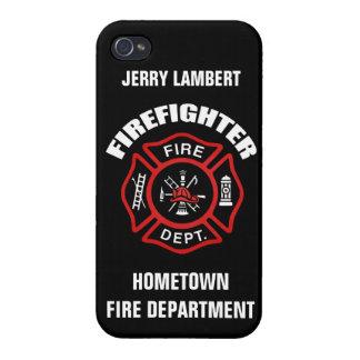 Modèle nommé de sapeur-pompier étui iPhone 4