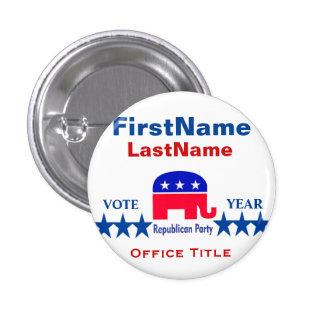 Modèle rond républicain de bouton badge rond 2,50 cm