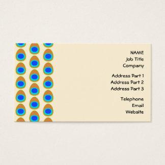 Modèle stylisé de plume de paon cartes de visite
