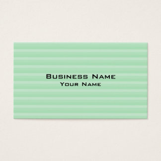 Modèle vert clair de rayure carte de visite standard