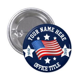 Modèle vide de campagne badge rond 2,50 cm