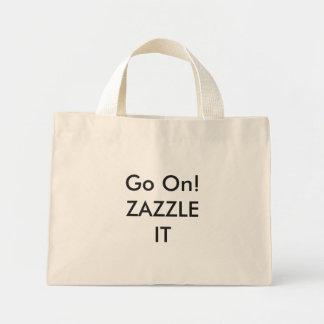 Modèle vide minuscule de Fourre-tout personnalisé Mini Tote Bag