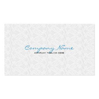 Modèle vintage blanc de dentelle d'Orante Carte De Visite