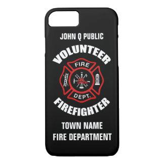 Modèle volontaire de nom de sapeur-pompier coque iPhone 7