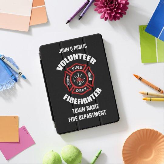 Modèle volontaire de nom de sapeur-pompier protection iPad pro