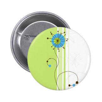 Modern Abstract BloemenOntwerp - Knoop Ronde Button 5,7 Cm