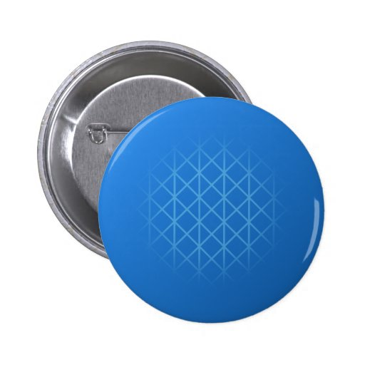 Modern Blauw Ontwerp met het patroon van het deeln Speld Button