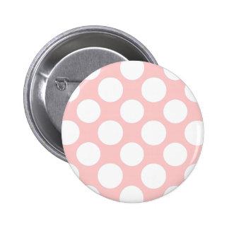 Modern bloos het Roze Witte Patroon van Stippen Ronde Button 5,7 Cm