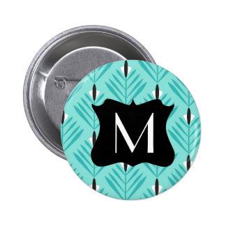 Modern en elegant patroon met monogram ronde button 5,7 cm