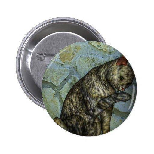 modern katten digitaal art. speldbuttons