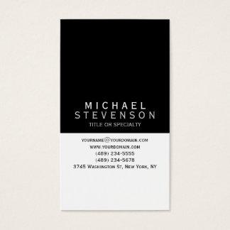 Modern Zwart Grijs Wit Duidelijk Visitekaartje Visitekaartjes
