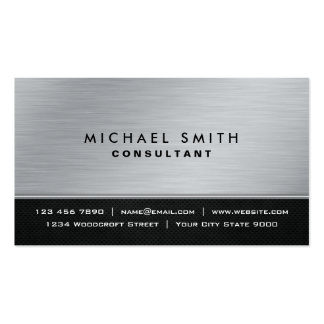 Moderne argenté noir simple élégant professionnel carte de visite standard