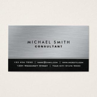 Moderne argenté noir simple élégant professionnel cartes de visite