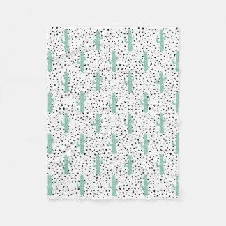 Moderne Artistieke Abstracte Cactus en Driehoeken Fleece Deken