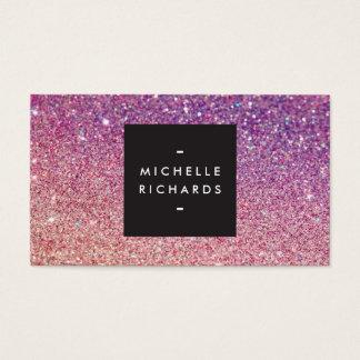 MODERNE brons-paarse OMBRE SCHITTERT Visitekaartje Visitekaartjes