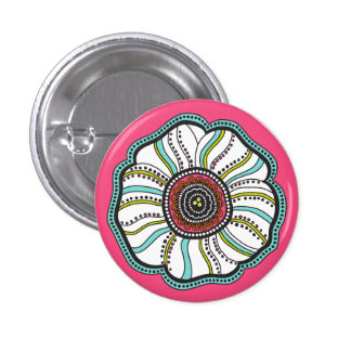 Moderne de bloemknoop van de Zaligheid Button