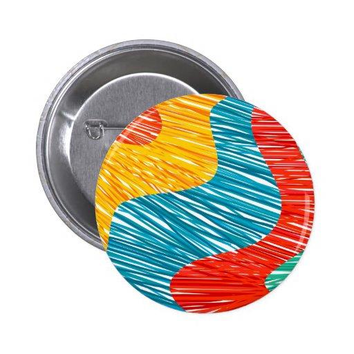 Moderne de kleurengolven van Abtract Speldje