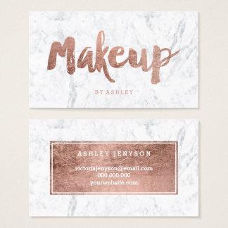 Moderne de kunstenaar van de make-up nam gouden visitekaartjes