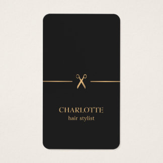 Moderne Elegante Elegante Gouden Zwarte Visitekaartjes