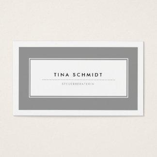 Moderne Grau Visitenkarten Cartes De Visite