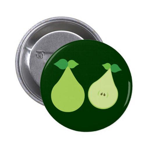 Moderne Groene Peer Speld Buttons