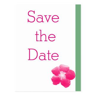 Moderne huwelijks heldere bloemen sparen de datum briefkaart