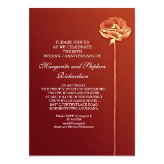 moderne huwelijksverjaardag 12,7x17,8 uitnodiging kaart