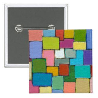 Moderne kleurrijke unieke origineel van de abstrac speldbuttons