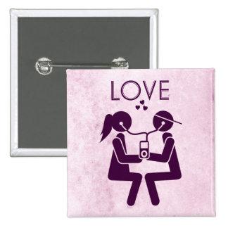 Moderne Liefde Buttons