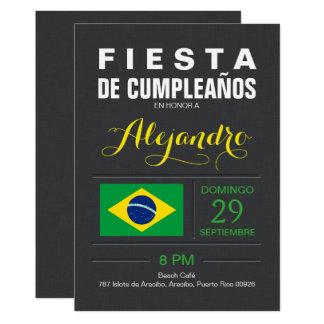 Moderne : Partie du Brésil Carton D'invitation 12,7 Cm X 17,78 Cm