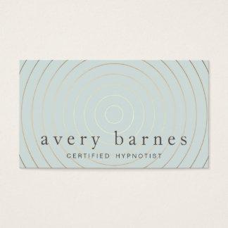 Moderne professionnel d'or bleu sage élégant cartes de visite