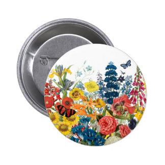 moderne vintage bloemen button