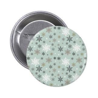 moderne vintage de wintersneeuwvlokken speld buttons