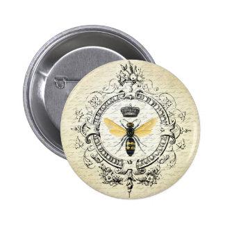 MODERNE VINTAGE Franse bijenkoningin Speld Buttons