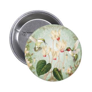Moderne Vintage Franse Kolibries Ronde Button 5,7 Cm