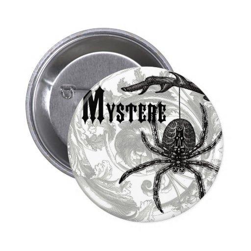 moderne vintage Halloween tarantula Speldbuttons