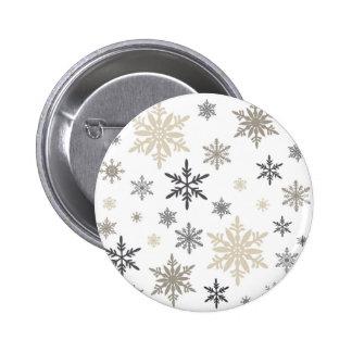 moderne vintage sneeuwvlokken speld buttons