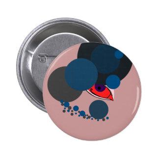 Moderne Vreemd Ronde Button 5,7 Cm