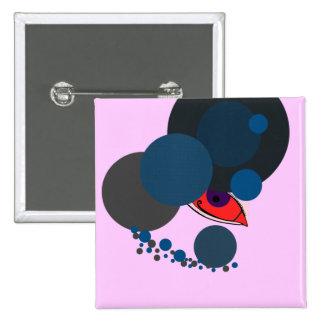 Moderne Vreemd Vierkante Button 5,1 Cm