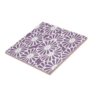Modes asiatiques violets floraux carreau