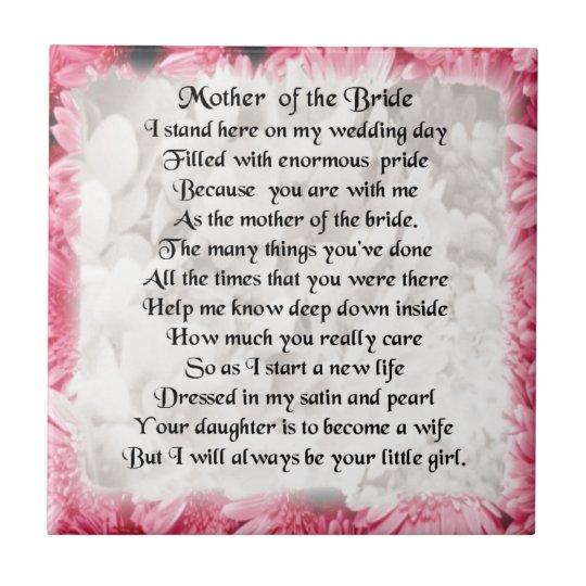 Beste Moeder van het Gedicht van de Bruid - Roze Tegeltje | Zazzle.be XN-56