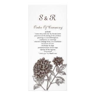 moka, programme de mariage de dahlia doubles cartes