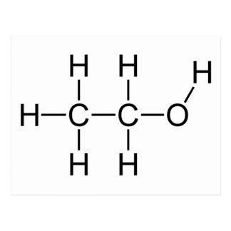 Molécule d'alcool carte postale