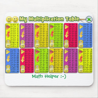 Mon aide Mousepad de maths de Tableau de Tapis De Souris