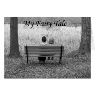 Mon anniversaire de conte de fées - enfants sur le carte de vœux